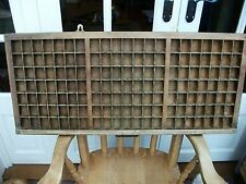 Vintage Wooden Printers Block Tray with Brass Corners
