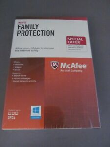 McAfee Family Protection for 3 PCs  NEW inc VAT