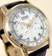 CITIZEN MEN ECO DRIVE MULTIFUNCTION GOLDEN LEATHER DAY DATE AO9003-16A