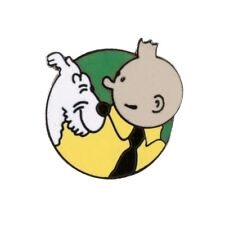 Pin's Tintin and Snowy Green Background Corner (Nº205)