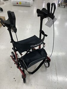 """NEW OasisSpace Upright Walker Tall Walker with 10"""" Front Wheels Stand Up Walker"""