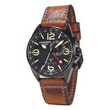 New Torgoen Swiss T30 Men's Quartz Alarm / GMT 45mm Case Pilot Aviator Watch