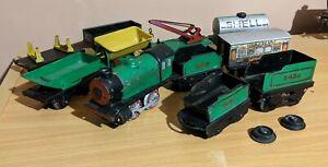 Hornby O Gauge M0 Loco & Wagons Trucks Clockwork Tinplate Toy Train