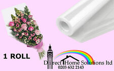 FLORIST CLEAR FILM CELLOPHANE GIFT WRAP ROLLS 100m 80cm 35Mic Next Day Delivery