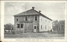Stepney CT Volunteer Fire Dept c1910 Postcard