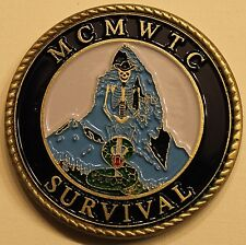 Marine Corps Mountain Warfare Training Center MCMWTC Survival Challenge Coin