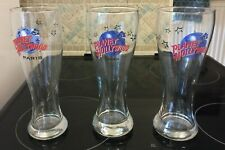 3 Planet Holloywood Beer Glasses - Paris, Las Vegas, Vancouver - New