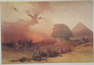 "David Roberts' Egypt, ""Approach of the Simoom"", Subscription Edition, Full Folio"