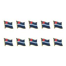 """LOT OF 10 LEATHER PRIDE FLAG LAPEL PIN 0.5"""" Hat Tie Tack Badge LGBT Gay BDSM NEW"""