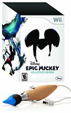 Disney Epic Mickey - Collector's Edition w/ Paint Brush Chuk [Nintendo Wii] NEW