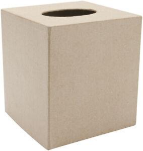 """Darice Paper-Mache Tissue Box-5""""X5"""""""