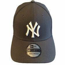 New York Yankees New Era 39Thirty Graphite S/M Flexfit Fitted Cap Hat $30