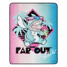 """Disney Far Out Stitch Blanket Warm Soft Super Throw 46"""" x 60''"""