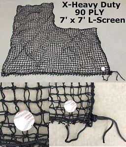 L-Screen X-Heavy Duty Replacement Net 7' x 7' #60 90PLY Batting Pitcher L Screen