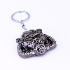 2017 Hot Fallout 4 Keychain Radiation Mask Key Ring Car Key Chains Men Jewelry