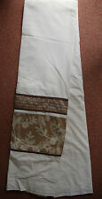 New Holly Cream 66 x 90 inch 168 x 229 cm tap Top Floral panel Curtains