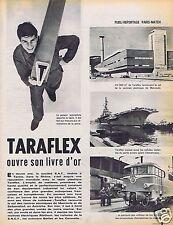 Coupure de presse Clipping 1961 Traraflex oivre son livre d'Or  (3 pages)