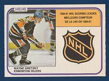 WAYNE GRETZKY SCORING LEADERS 81-82 O-PEE-CHEE 1981-82 NO 384 NRMINT  10477