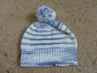 Brand new hand knitted baby boys bobble hat (aged 3-9 months)
