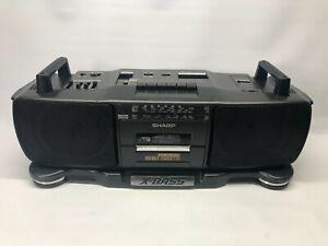 Vintage Sharp X-BASS Radio Twin Cassette Boom Box (WQ-T360E) (GY) 1980s