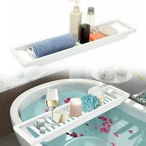 Bamboo Wooden BathTub Rack Caddy Bathroom Shelf Tidy Tray Storage Organiser Gift
