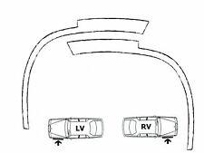 Fiat punto 3//5 puertas bj/'99-07 radlauf las molduras delante atrás 4 trozo negro mate
