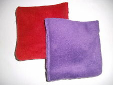 MINI Microwave Fleece Wheat Bags with Lavender - PURPLE - Twin pack
