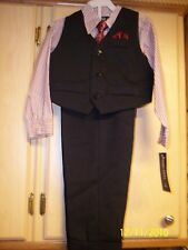 NWT Boy's Size 24M 4-Piece Suit By Happy Fella JCPenney