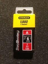 Stanley 1-TRA204T Agrafes Type A 6 mm 1000 Pièces pour TR45 , TR151Y , TR150L