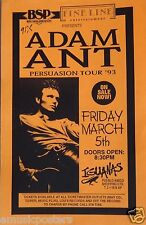 "ADAM ANT ""PERSUASION TOUR 1993"" TIJUANA, MEXICO CONCERT POSTER - New Wave Music"