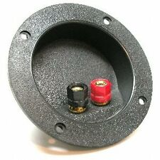 Round Binding Post Type Speaker Box Terminal Cup Accepts Banana Plugs BPRG