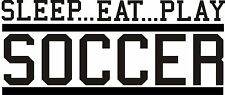 SOCCER VINYL Wall DECAL art stickers lettering decor sports
