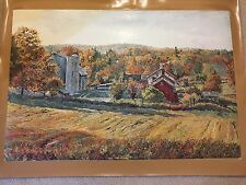 """AUTHENTIC ARTAGRAPH OIL PAINTING """"OCTOBER MORNING"""" M. KEIRSTEAD,SIGNED 211/1000"""