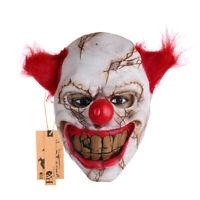 Horror Latex Mask Evil Clown Halloween Costume Accessory Killer Cosplay Prop