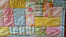 POTTERY BARN KIDS PASTEL FLOWER PRINT TWIN QUILT COMFORTER & SHAM PRE-OWNED