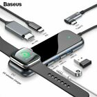 Multifunctional Hub Type-C to USB 3.0, HDMI, Aux, PD, iWatch Wireless Charger