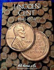 H.E. Harris Lincoln Cent #2 1941 - 1974 Coin Folder, Penny Album Book #2673