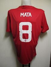 MANCHESTER UNITED 2016/17 S/S HOME SHIRT MATA 8 CLUB LETTERING BY ADIDAS XL NEW