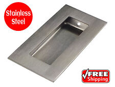 FLUSH PULL STAINLESS STEEL SQUARE 100 x 50 RECESSED SLIDING DOOR HANDLE SATIN co