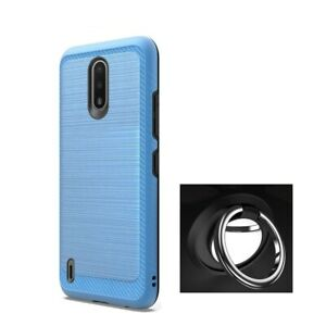 For Nokia C2 Tava Brushed Shockproof Cover Case + Ring