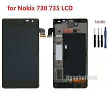 For Nokia Lumia 730 735 LCD Display + Touch Screen Digitizer Assembly with Frame