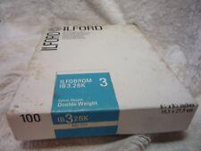 100 x ILFORD Multigrade carta fotografica in velluto a puntini 16.5 cm 21.6 cm IB 3 26K vista
