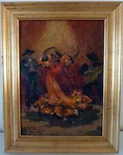 """Georges Regnault - """"Danseuse  espagnole"""" - Huile sur toile maroufflée sur carton"""