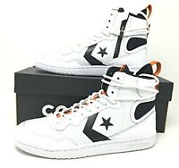 Converse Fastbreak High Mens High Top Shoes White/Black/Orange Size 8.5 162559C