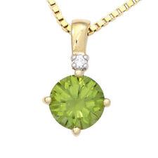 Diamant runde Echtschmuck-Halsketten & -Anhänger aus Gelbgold