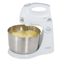 Premium 5 Speed Stand Hand Mixer 4.5 Qt Stainless Steel bowl 300W Dual-Function