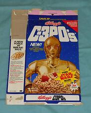 vintage Kellogg's C-3PO's CEREAL BOX (C-3PO mask on back) Star Wars