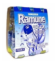 Sangaria Ramune Marble Soft Drink Original Flavor 6 bottle Pack, Free Shipping!!