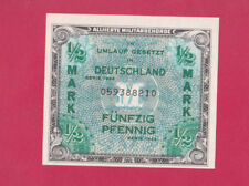 GERMANY -  SCARCE WW2 Allied Military ½ MARK Note 1944  - UNCIRCULATED - LOOK!