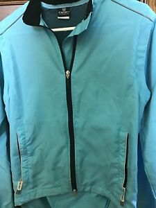 Canari Womens Cycling Jacket Vest Windbreaker Turquoise 3 Pocket SMALL